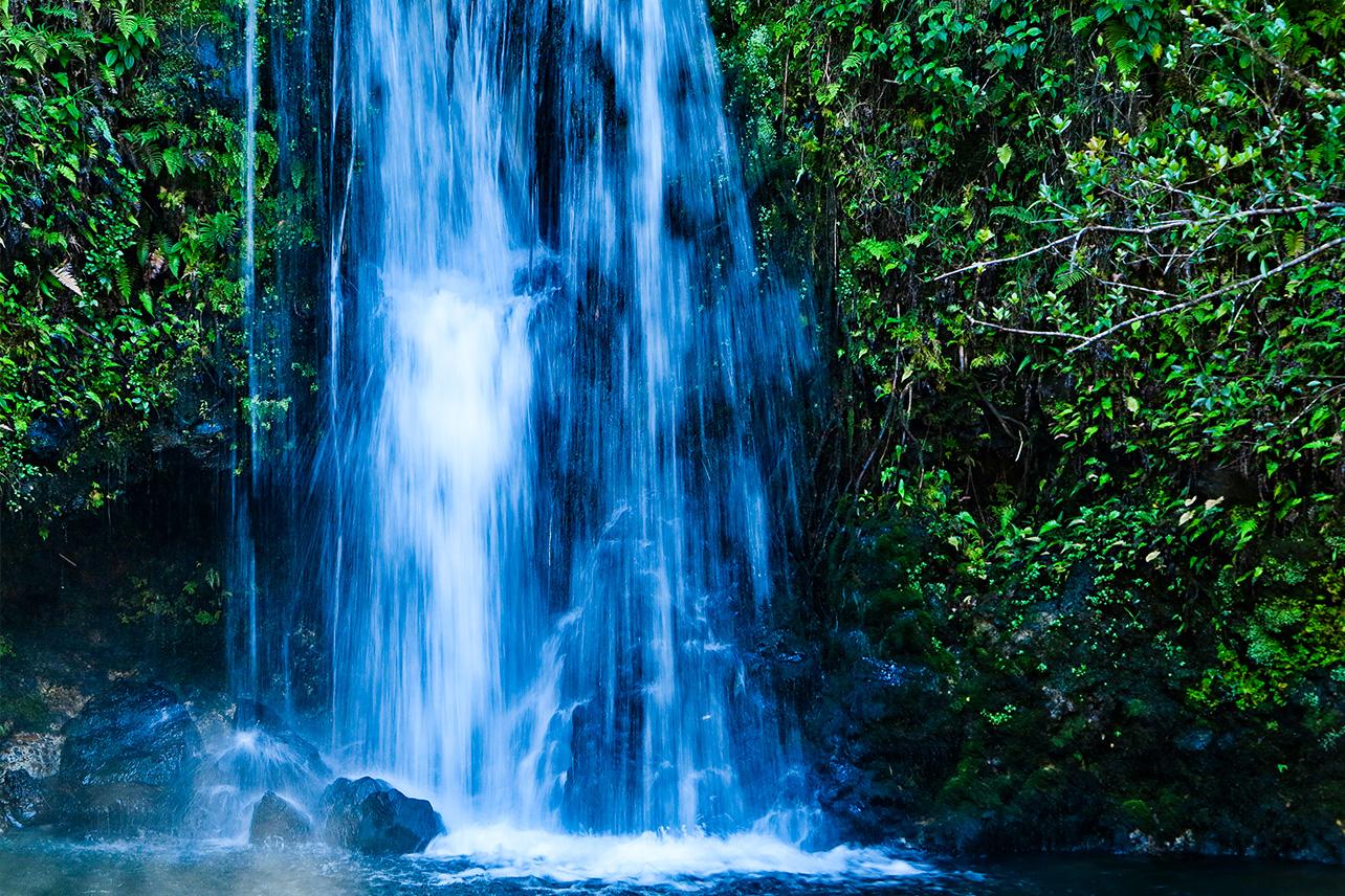 Waterfall along the road to Hana, Maui, Hawaii