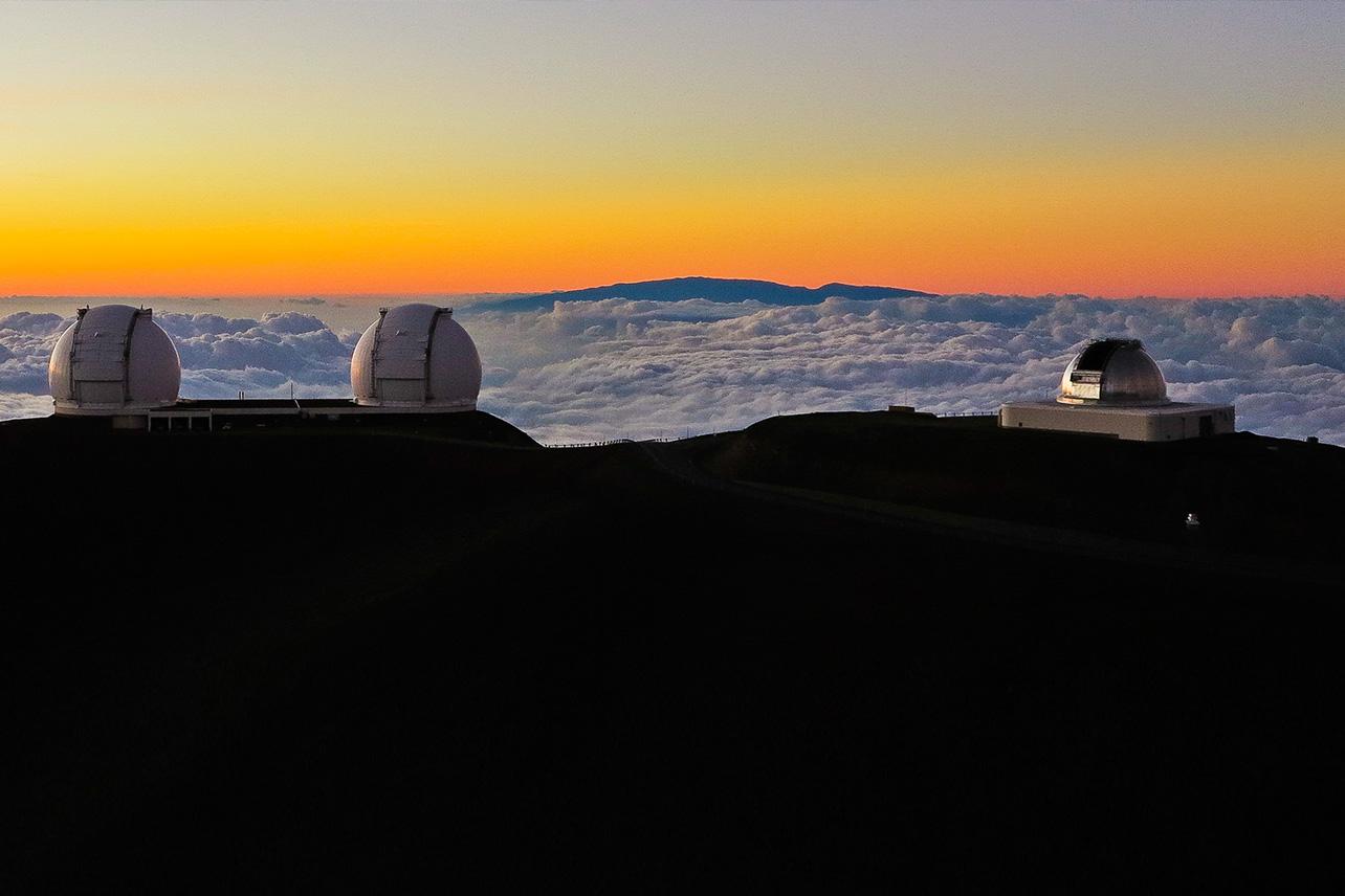 Sunset from the summit of Mauna Kea, Big Island.