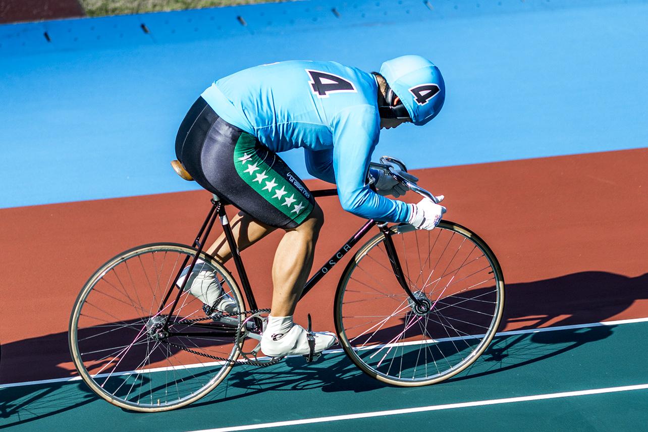Cyclist at the Tachikawa Velodrome