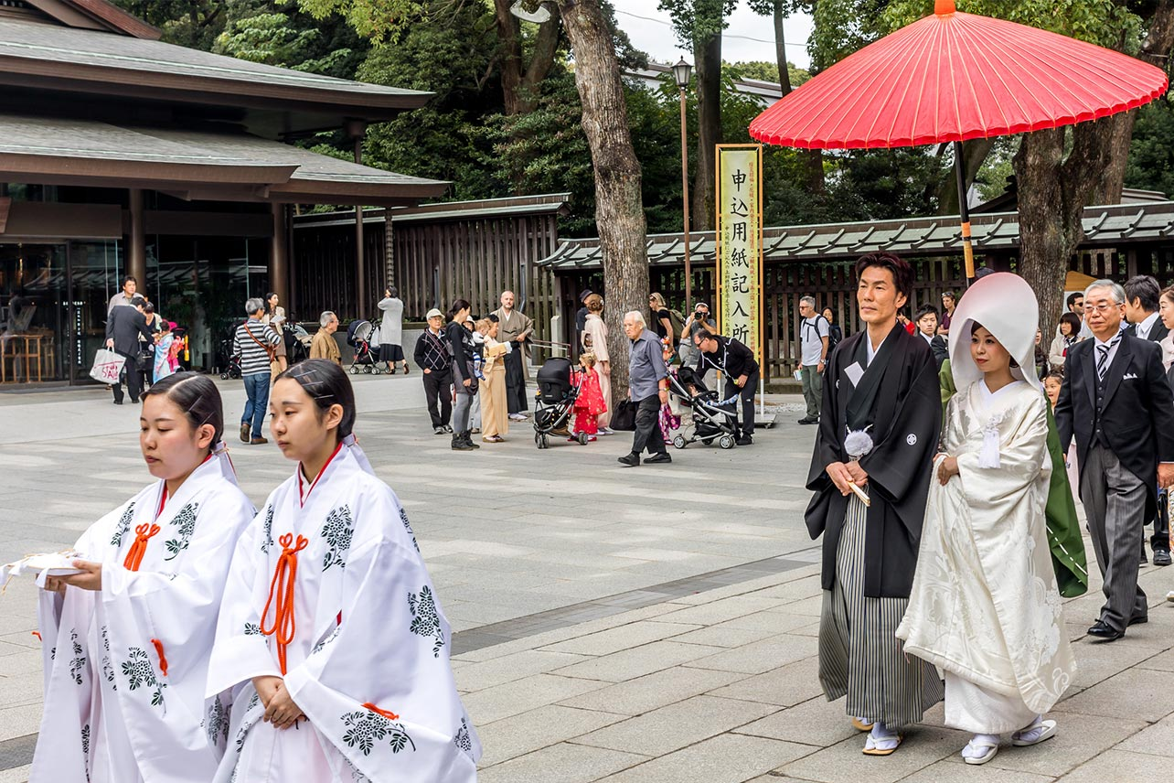 Wedding at the Meiji Jingu Shrine