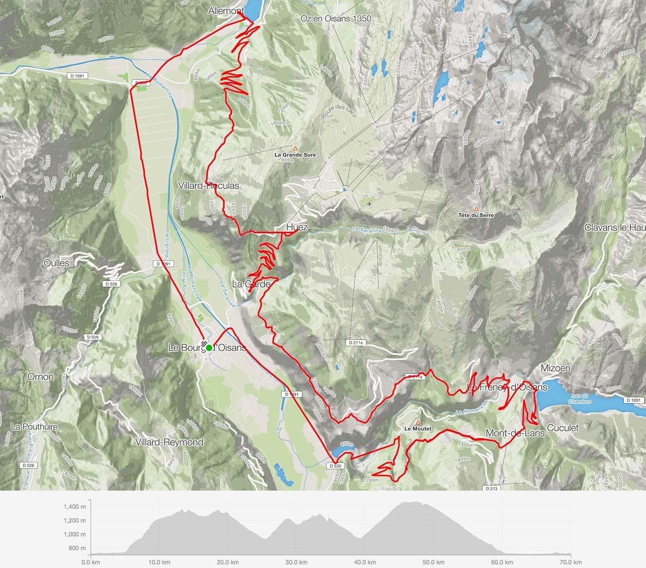 Balcony road,Alpe d'Huez · 1,860 m (6,102 ft), Lac du Verney