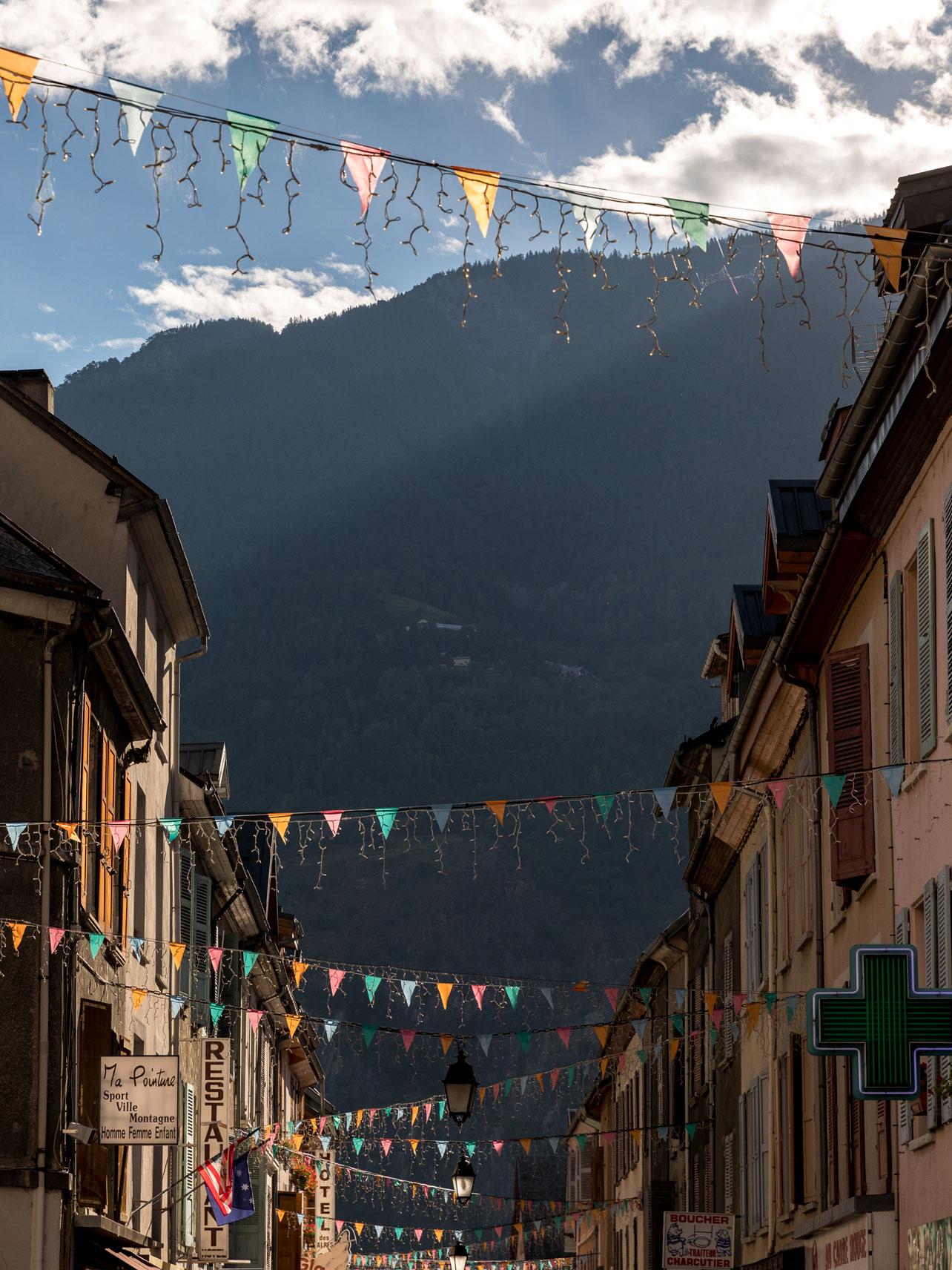 Morning atmosphere in Bourg d'Oisans.
