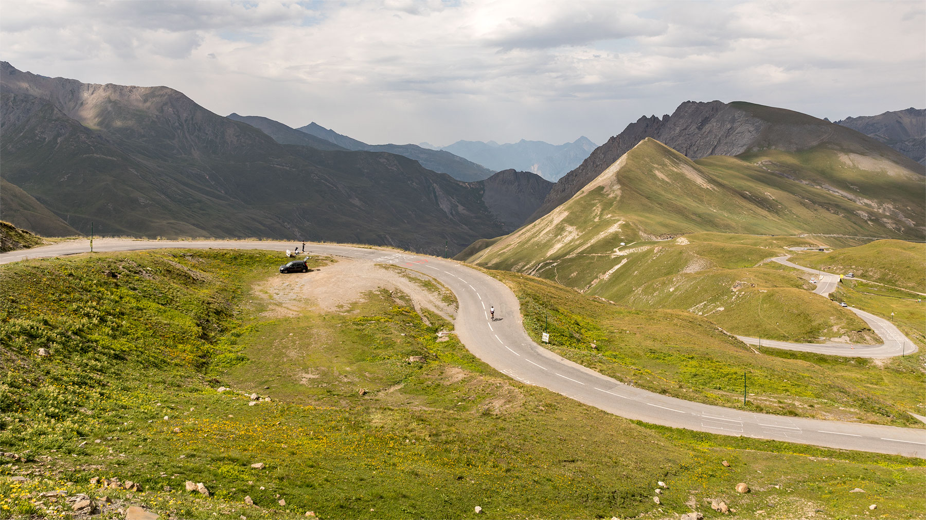 View of the northern ascent of the Col du Galibier.